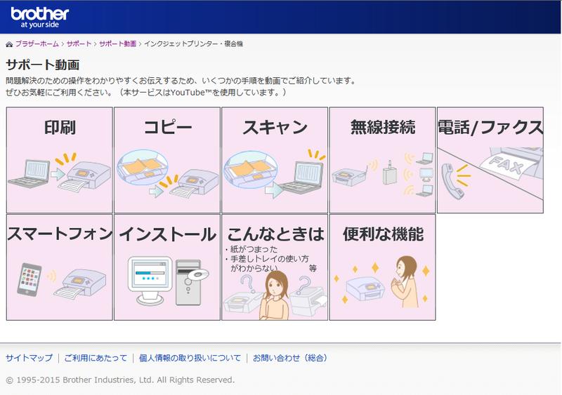 サポート動画紹介ページ画像