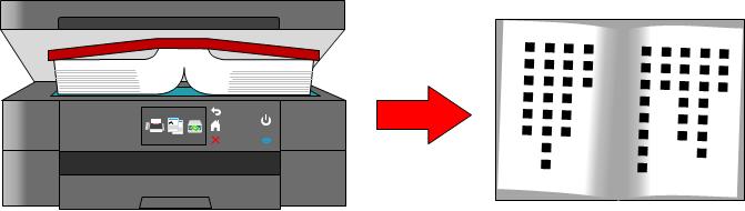 分厚い本をコピーした場合のイメージ画像