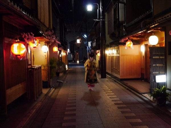 祇園の町屋で出会った舞妓さんの画像