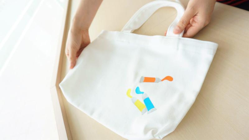 アイロンシートで作ったオリジナルバッグの画像