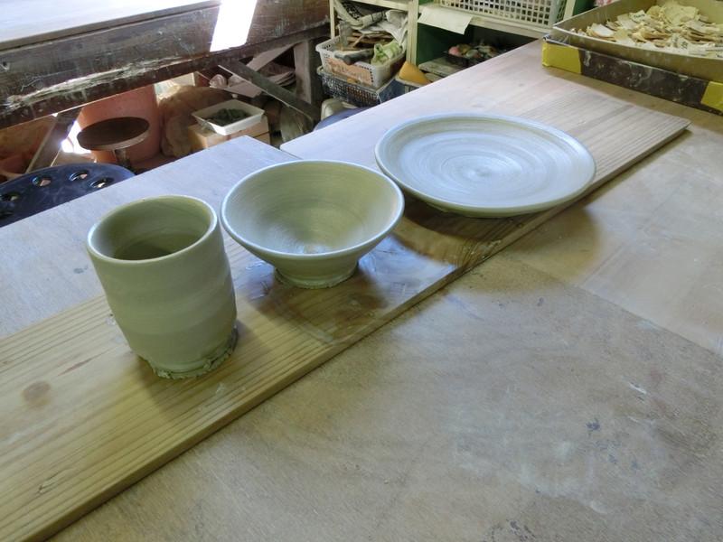 湯呑・お茶碗・大皿を作成した画像